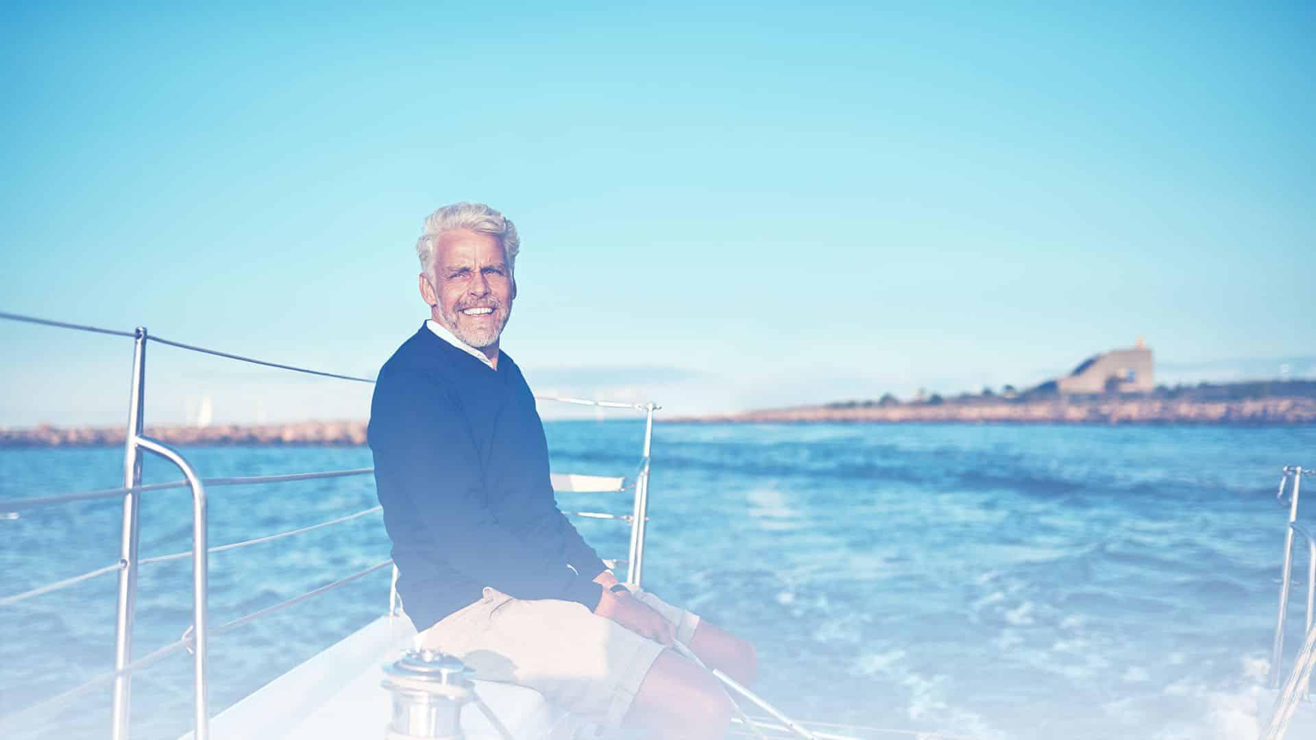Gentleman enjoying his boat financed with My Financing USA