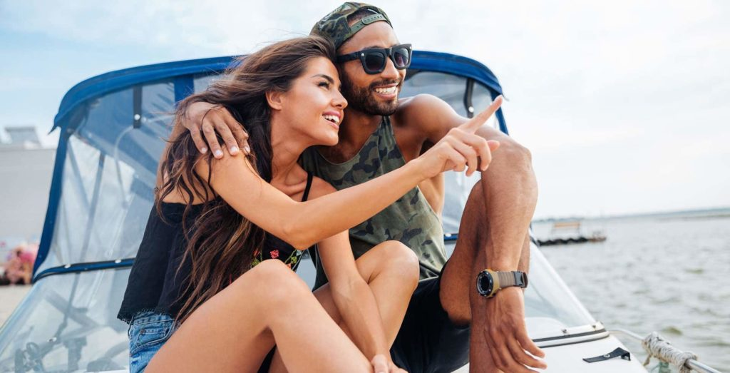 Couple Enjoying their Boat Loans with My Financing USA