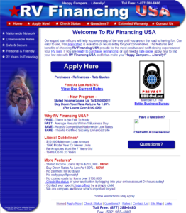 Original RV Financing USA Website