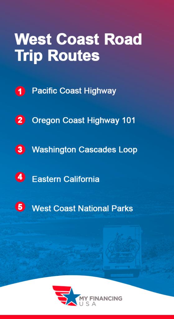 West Coast Road Trip Routes