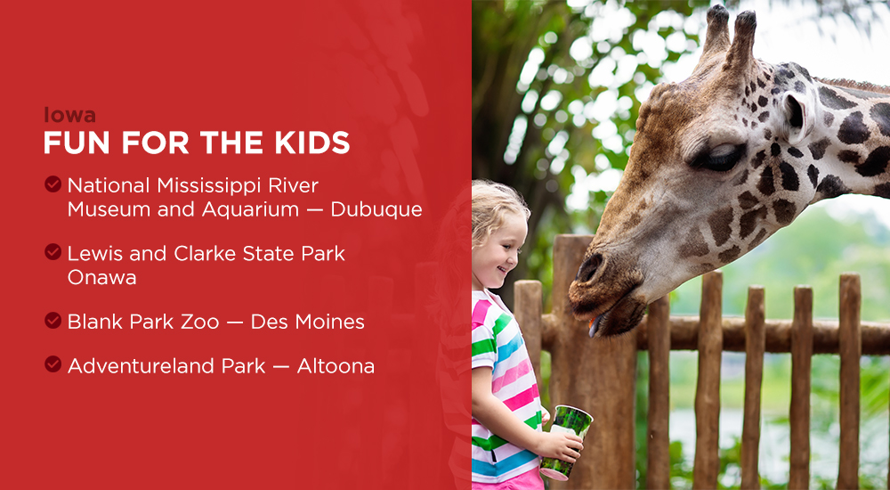 Kids can find ample attractions to enjoy in Iowa
