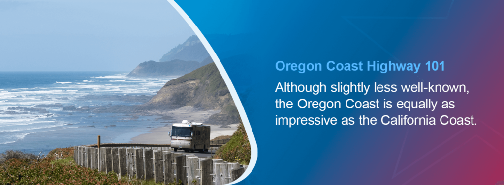 Although slightly less well-known, the Oregon Coast is equally as impressive as the California Coast.