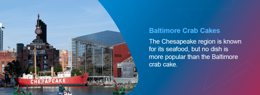 The Chesapeake region is known for its seafood, but no dish is more popular than the Baltimore crab cake.